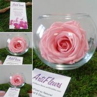 vase boule rose éternelle artifleurs