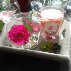 plateau rose éternelle artifleurs