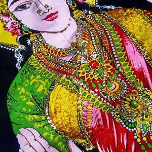 tenture artisanale indienne artifleurs