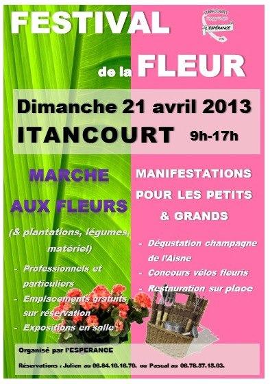 Festival de la Fleur à Itancourt 2013