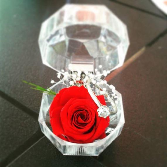 ecrin diamant petite rose naturelle ternelle rouge. Black Bedroom Furniture Sets. Home Design Ideas
