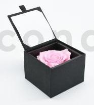 Bloominbox ecrin noir rose stabilisee rose clair