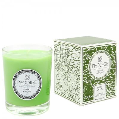 Bougie parfumee esprit nature bambou notes vertes