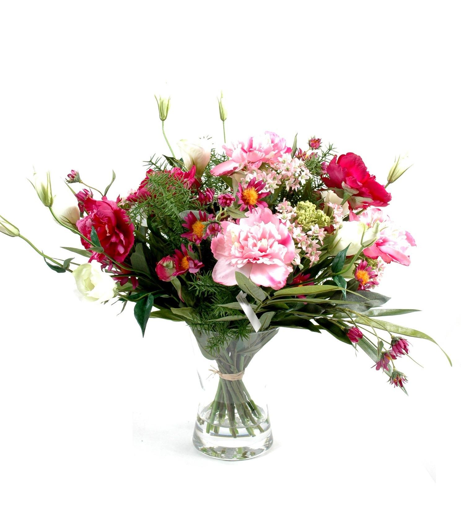 vase illusion d 39 eau fleurs artificielles m lang es luxe. Black Bedroom Furniture Sets. Home Design Ideas