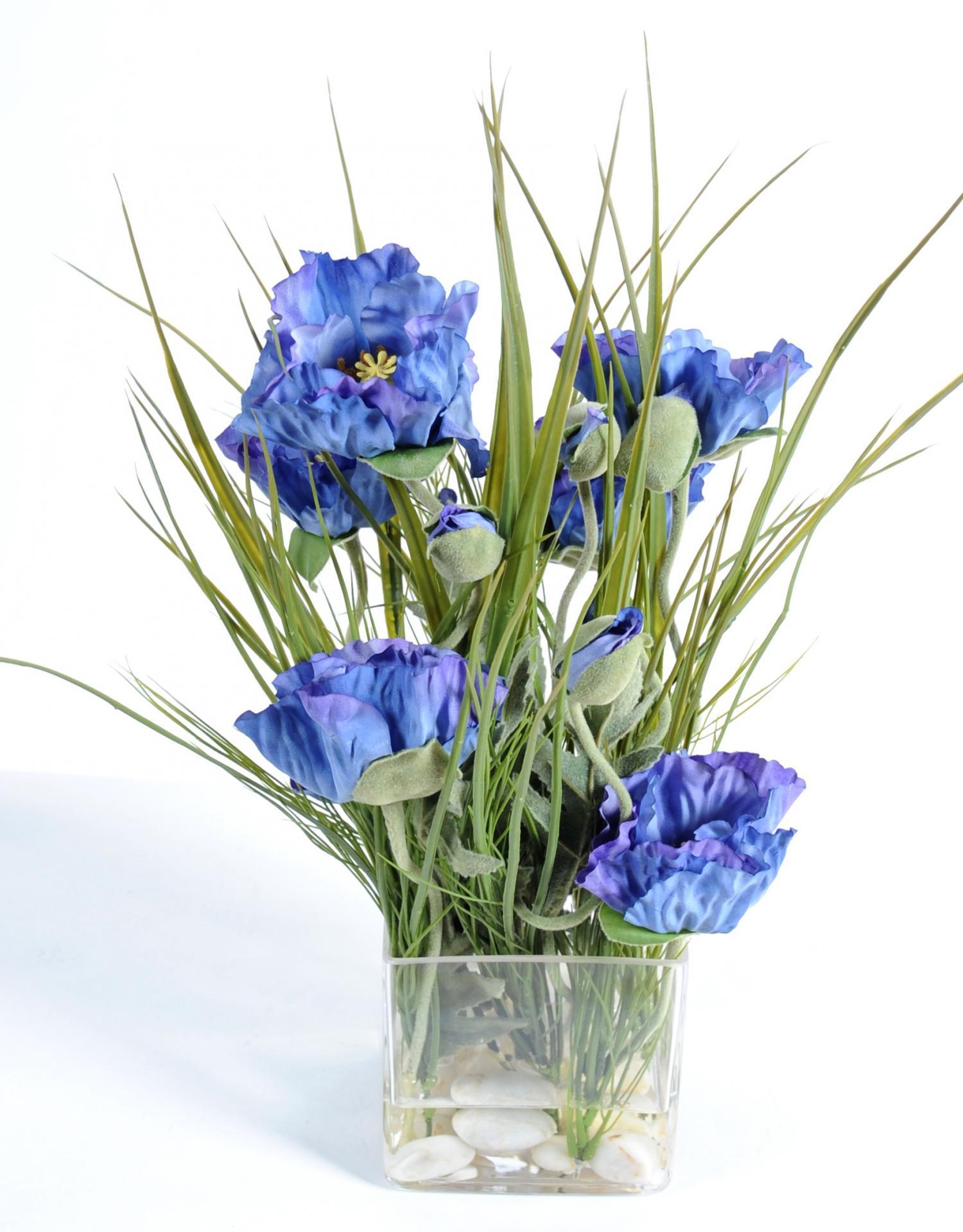 vase illusion d 39 eau coquelicot fleur artificielle real touch. Black Bedroom Furniture Sets. Home Design Ideas