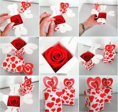 Coffret rose parfumee
