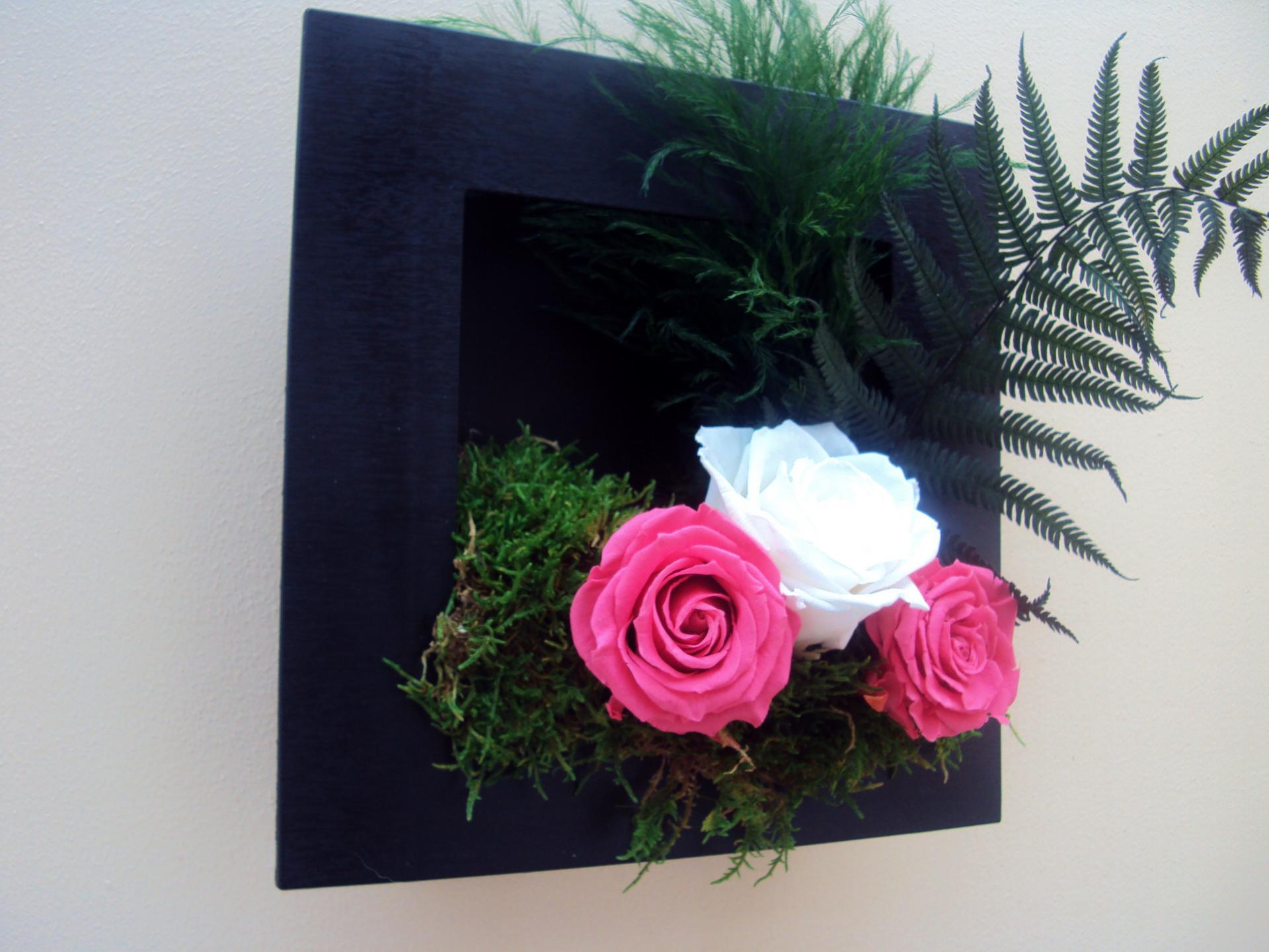 Tableau avec fleurs naturelles for Site art et decoration