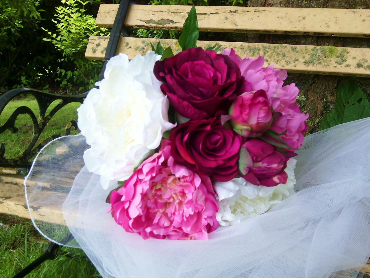 fleurs artificielles bouquet composition mariage. Black Bedroom Furniture Sets. Home Design Ideas