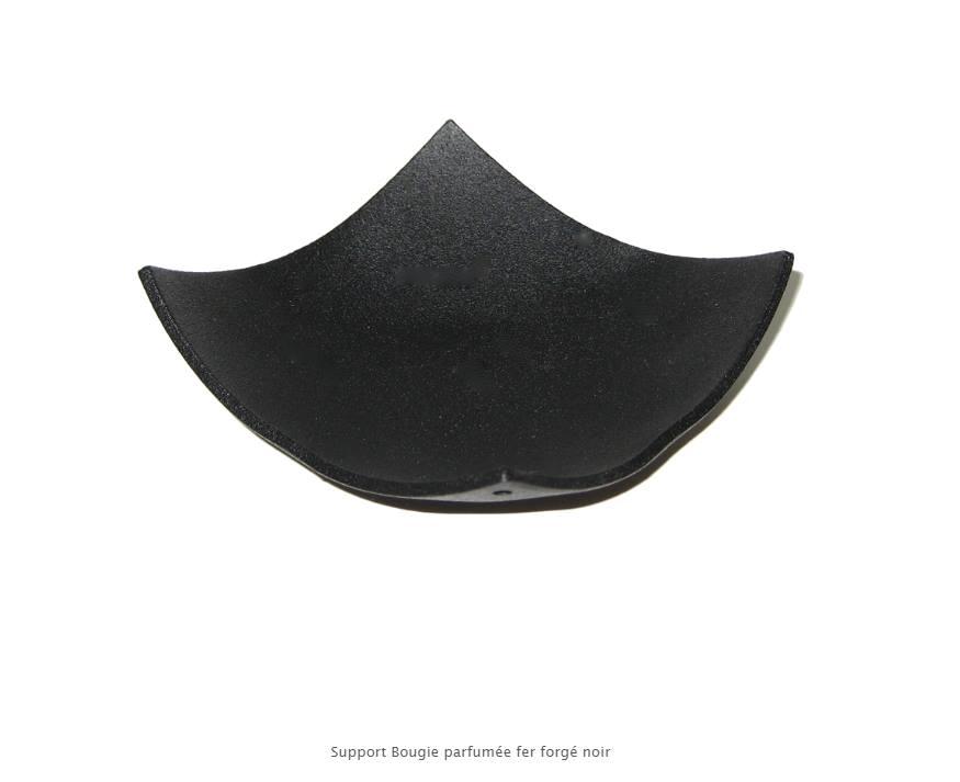 Porte encens fer forge noir