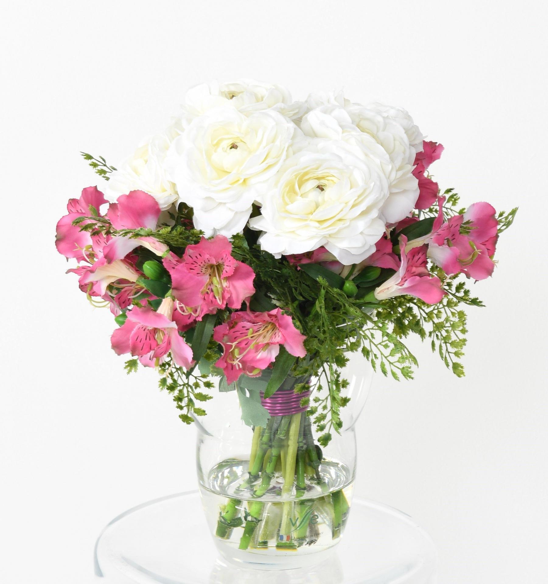 200bouquet en rose et blanc