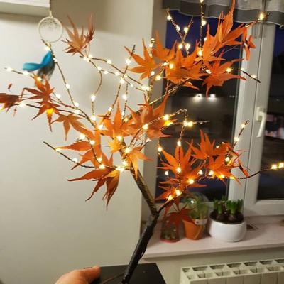 Grand Bonsaï Érable éternel avec LED 40 cm NE FANE PAS