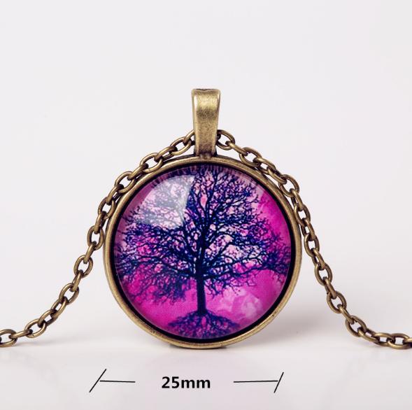 Arbre de vie violet verre 1
