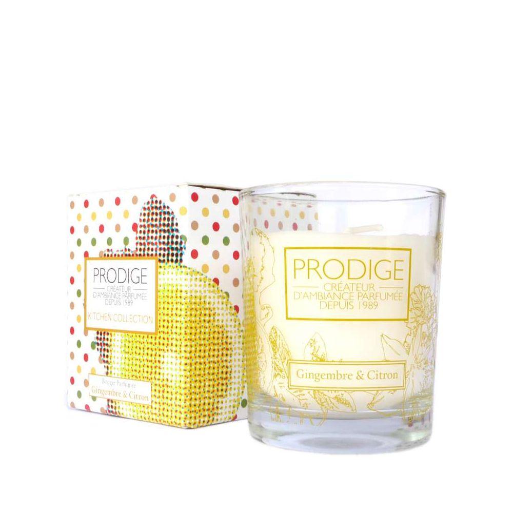 Bougie parfumee gingembre citron sicile