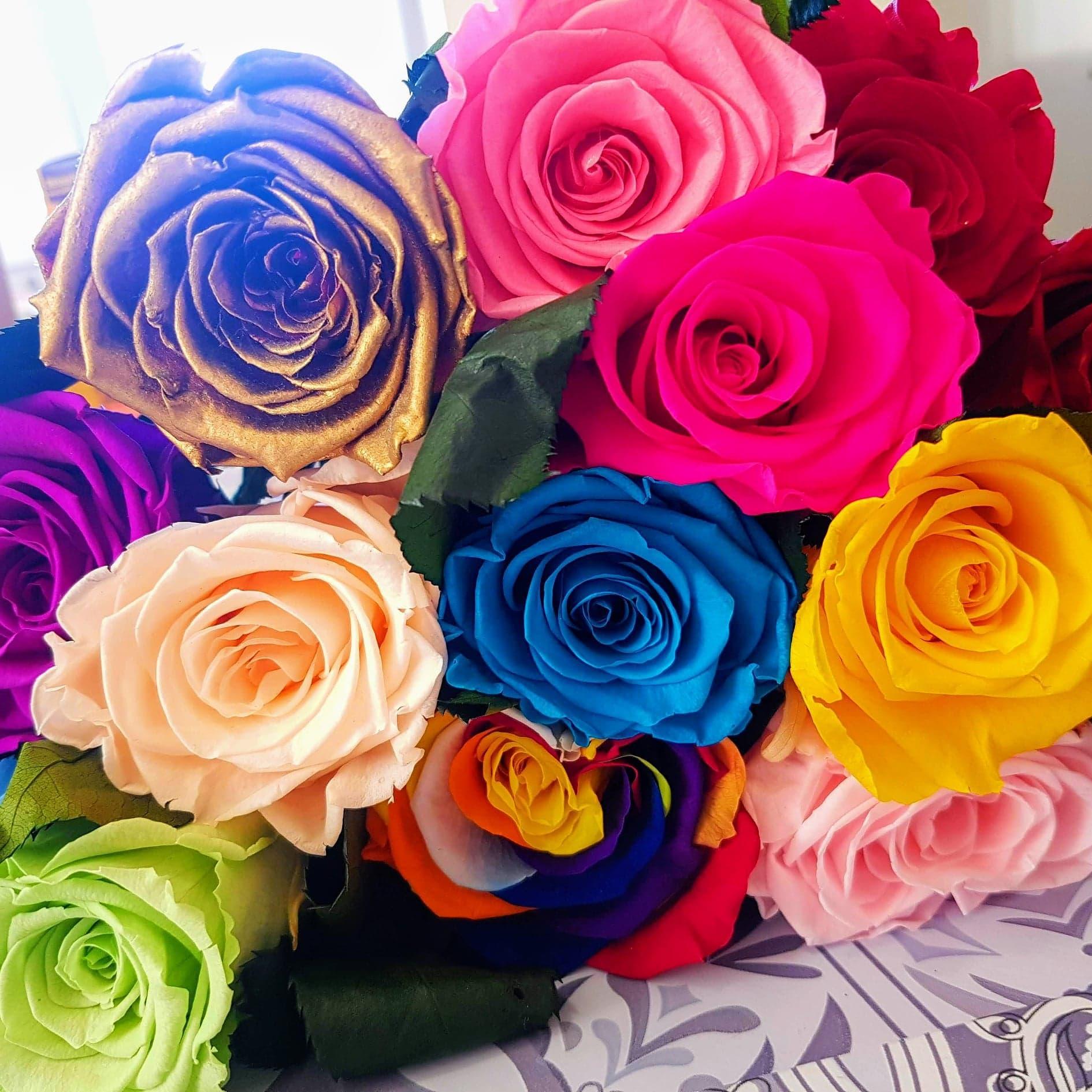 Bouquet artifleurs couleur