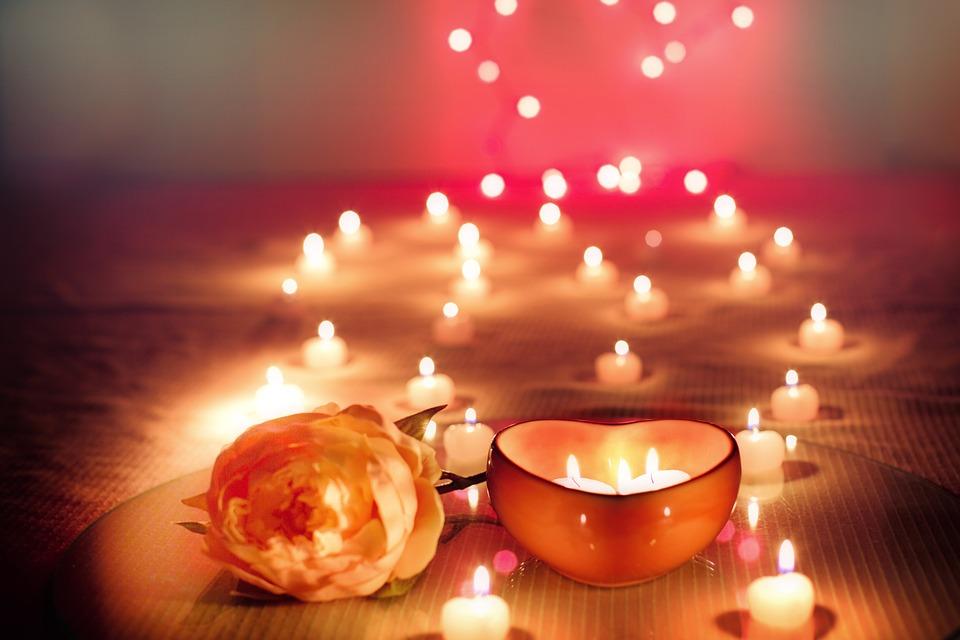 Candles st valentin artifleurs