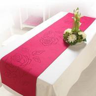 CHEMIN de TABLE feutrine ROSE FUCHSIA mariage
