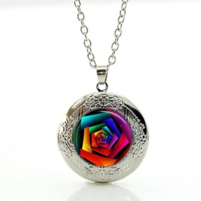 Rose rainbow collier agent